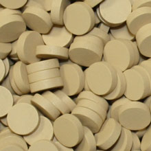 Tan Wooden Discs (15mm x 4mm)
