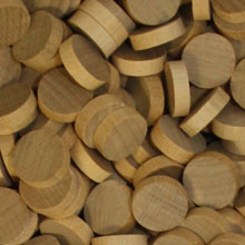 Unpainted Wooden Discs (15mm x 4mm)