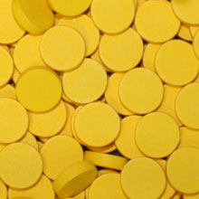 Yellow Wooden Discs (15mm x 4mm)