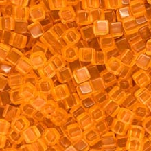 Orange Acrylic Cubes (8mm)