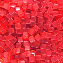 Red (Translucent) Acrylic Cubes (8mm)