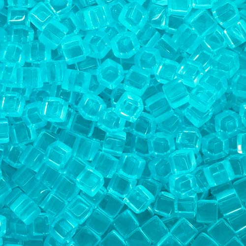 Meeplesource Com Turquoise Acrylic Cubes 8mm