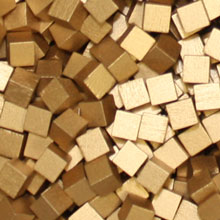 Metallic Copper Wooden Cubes (8mm)
