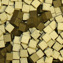 Metallic Gold Wooden Cubes (8mm)