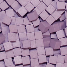 Lavender Wooden Cubes (8mm)