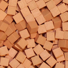 Salmon Wooden Cubes (8mm)
