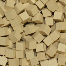 Tan Wooden Cubes (8mm)
