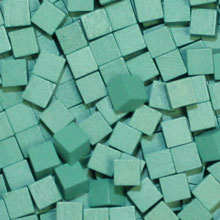 Turquoise Wooden Cubes