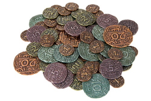 Set of Metal Coins for Agra (69 pcs) - (Quined Games)