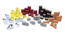 138-Piece Resource Set (Compatible with Agricola)