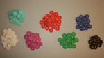 210 Mini Poker Chips (1's,5's,10's,20's,50's,100's, and 500's) - DISCONTINUED!