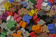 Assorted Mixed Meeples (16mm) - All 12 colors!