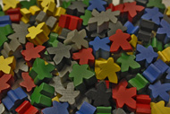 Assorted Mixed Meeples (16mm) - Original Colors (Red, Yellow, Green, Blue, Black and Grey)
