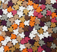 Assorted Mixed Meeples (16mm) - NEW COLORS! (Orange, Pink, Purple, White, Brown, and Unpainted)