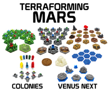 3D Printed Upgrade Kit for Terraforming Mars and Expansions (83 pieces)