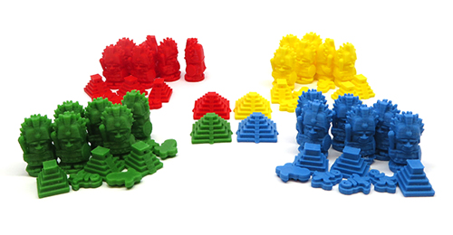 3D Printed Upgrade Kit for Tzolk'in - Player Pack (56 pieces)