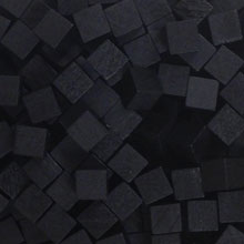 Black Wooden Cubes (8mm)