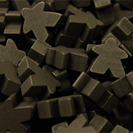 Black Super Mega Meeples (24mm)