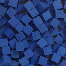 Blue Wooden Cubes (8mm)