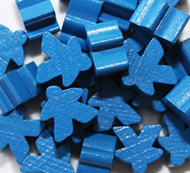 Blue Meeples (16mm)
