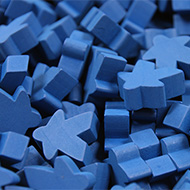 Blue Super Mega Meeples (24mm)