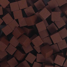 Brown Wooden Cubes (8mm)