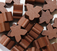 Brown Meeples (16mm)