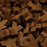 Brown Super Mega Meeples (24mm)