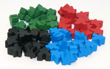 Burano Mini Meeple Upgrade Kit (52 pcs)