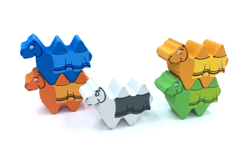 5-Piece Set of Character Camels (Compatible with Camel Up - Original Game)