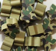 Forest/Green Camo Meeples (16mm)