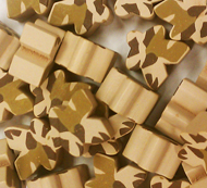 Desert/Tan Camo Meeples (16mm)