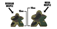 Forest/Green Camo Mega Meeples (19mm)