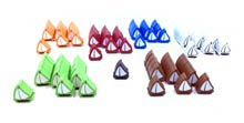 91-Piece 6-Player Set of Small Boats (Compatible with Catan: Seafarers)