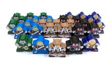 Character Meeples for Champions of Midgard (30 pcs) - SEE DESCRIPTION