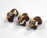 Polymer Clay Cows (5 pack)