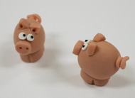 Polymer Clay Piggies (5 pack)