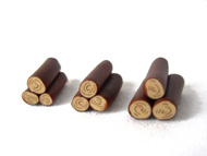 Polymer Clay Wood Pile Pieces (10 pack)