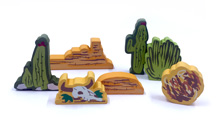 7-Piece Large Terrain Set for Colt Express
