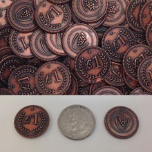 36-Piece Set of Metal Lira Coins (Copper Color)