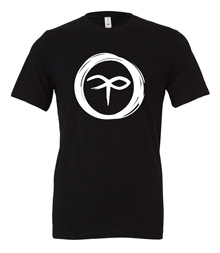 Charterstone: Black Charter (Black T-Shirt with White Logo)