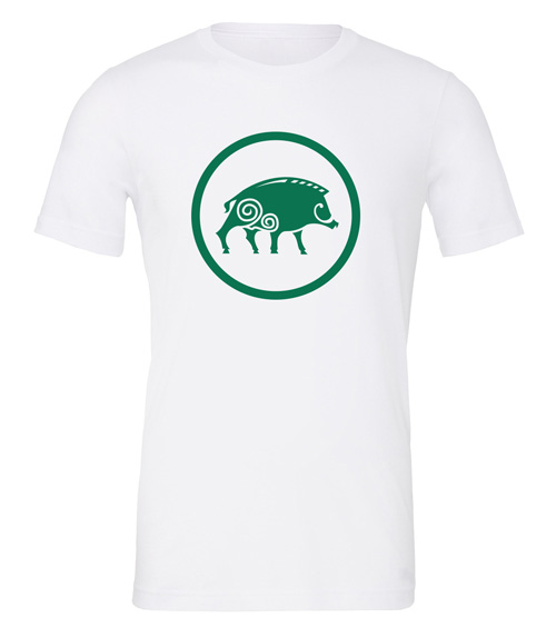 Scythe: Clan Albion (White T-Shirt with Green Logo)