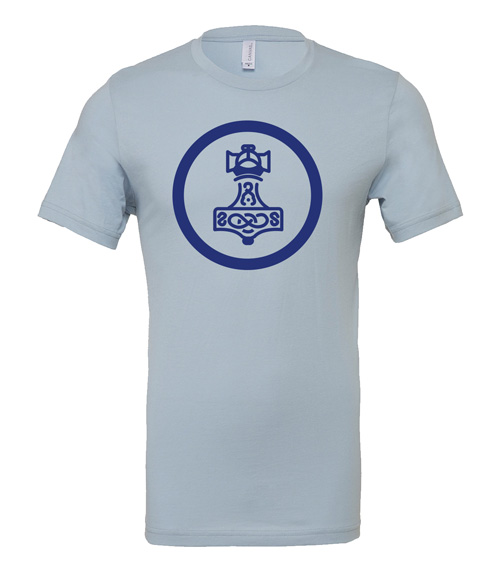 Scythe: Nordic Kingdoms (Light Blue T-Shirt with Blue Logo)