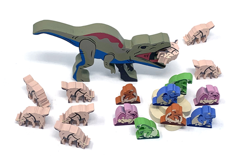 Meeplesource Com 167 Pc Complete Upgrade Kit For Dinosaur Island And Totally Liquid Expansion
