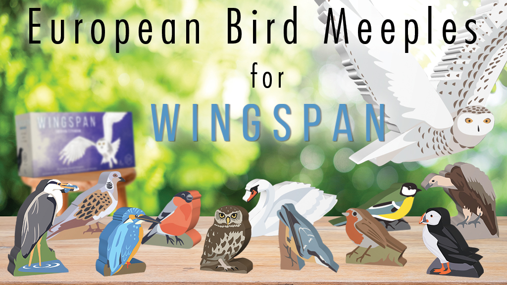 Custom Set of Painted European Wingspan Bird Meeples