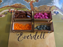Wooden Resource Bins for Everdell (set of 5)