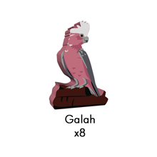 PRE-ORDER: Galah Meeples (8-pc set)