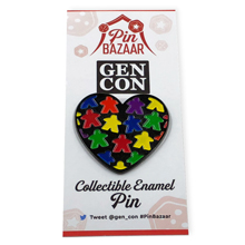 Meeple Love Lapel Pin (Gen Con Pin Bazaar 2018 Collectible Pin)