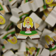 German Girl Mega Meeples (19mm)