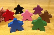 Giant Solid Color Meeple (3 inches tall) - Choose your color